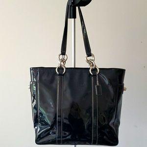 Vintage Coach Black Patent Leather Purse